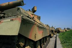 Tanques soviéticos Fotografia de Stock Royalty Free