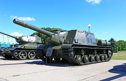 Tanques soviéticos durante a segunda guerra mundial Foto de Stock Royalty Free