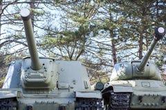 Tanques soviéticos velhos Imagens de Stock Royalty Free