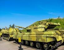 Tanques ucranianos e soviéticos Foto de Stock Royalty Free