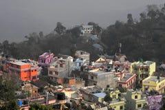 Tansen coloreó casas fotografía de archivo