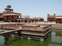 Tansen's seat of music. Akbar's fort at fathepur sikri..india royalty free stock photo