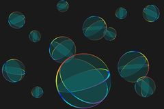 Tansparent圆的盘区 抽象背景 免版税图库摄影