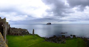 Tantallon Castle and Bass Rock Royalty Free Stock Images