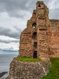 Tantallon Castle, mid-14th-century Scottish castle, North Berwick. Ruins of tantallon Castle, mid-14th-century Scottish castle, North Berwick. Historic royalty free stock photo