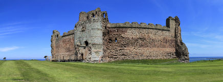 Tantallon castle ruins panorama scotland Stock Image