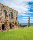 Tantallon Castle, semi-ruined mid-14th-century fortress, located 5 kilometres east of North Berwick, in East Lothian, Scotland. Stock Photography