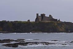 Tantallon slott en 14th århundradefästning i Skottland Royaltyfri Foto