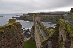 Tantallon slott en 14th århundradefästning i Skottland Royaltyfri Bild