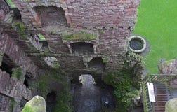 Tantallon slott en 14th århundradefästning i Skottland Arkivfoto