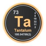 Tantalum Ta chemical element. 3D rendering. Isolated on white background vector illustration