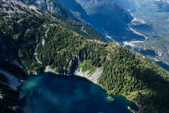 Tantalus Mountains. From the air Royalty Free Stock Photos