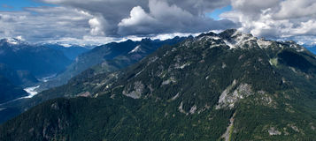 Tantalus Mountains. From the air Royalty Free Stock Images