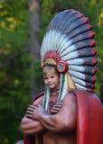 Tantamareska im Bild des Indianers mit einem Loch für das Gesicht Lizenzfreie Stockfotografie