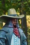 Tantamareska im Bild eines Cowboys mit einem Loch für das Gesicht Lizenzfreie Stockbilder
