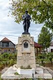 The monument of the heroes  on October 15, 2020 in  Tantareni, Gorj,  Romania.