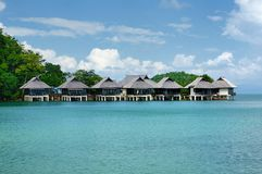 Tantawan bungalow, Tantawan kurort, południowa porada Koh Chang wyspa, Tajlandia obraz royalty free
