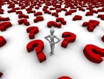 Tante domande! Immagine Stock