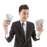 ¡Tanto dinero! Imagen de archivo