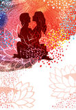 Tantra. Vector template for a concert poster or a flyer Stock Image