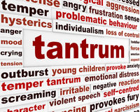 Tantrum emotional behavior concept Stock Images