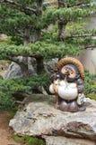 tanuki的雕象-京都-日本 免版税库存图片