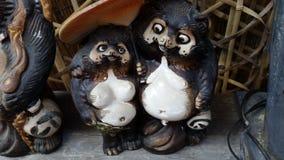 Tanuki e amiga Fotografia de Stock Royalty Free