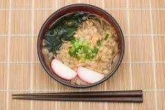 Tanuki soba noodles Stock Images