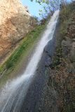Tanur Waterfall, Israel. Tanur high waterfall nature reserve near Metula city, north of Israel Stock Photo