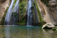 Tanur waterfall stream. River Iyon, Nature Reserve in the north of Israel Stock Photos
