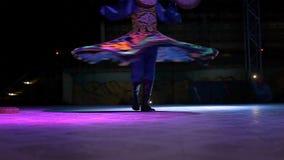 Tanura, faldas de la danza almacen de metraje de vídeo