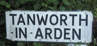 Tanworth in Arden sign Royalty Free Stock Image
