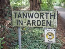 Tanworth in Arden sign Royalty Free Stock Images