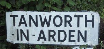 Tanworth w Arden znaku obraz royalty free
