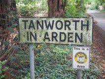 Tanworth w Arden znaku obrazy royalty free