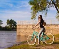 Tanya. bicycle city Stock Photography