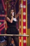 Tanya Tereshina sing a song Royalty Free Stock Image