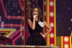 Tanya Tereshina singen ein Lied stockfoto