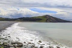 Tanybwlch strand, Aberystwyth Fotografering för Bildbyråer