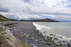 Tanybwlch strand, Aberystwyth Arkivbilder