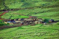 Tanzânia, vila do massai África imagem de stock
