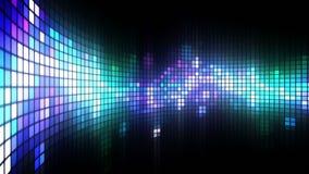 Tanz beleuchtet Wand-Hintergrund stock footage