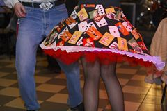 Tanz - Bewegungszittern Lizenzfreie Stockfotos