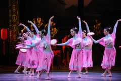 Tanz-D HUs Feng Tat des Rosa-Mädchens-D zuerst von Tanzdrama-c$shawanereignissen der Vergangenheit Stockfotos