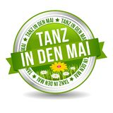 Tanz in den Mai Button mit Bumenwiese. Web Banner Button. Eps10 Vektor Stock Images