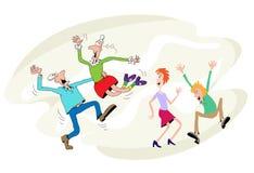 Tanz der älteren Personen Stockbilder