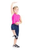 Tanz des kleinen Mädchens stockbild