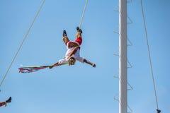 Tanz des Papantla Flyers Voladores de Papantla - des Puerto Vallarta, Jalisco, Mexiko lizenzfreies stockfoto