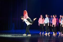 Tanz-Drama der Bergdorf-Hochzeits-1-Lilac stockfoto