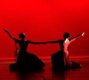 Tanz im Rot Lizenzfreie Stockbilder